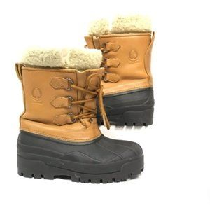 L.L. Bean Lace up Snow Boots with Liner